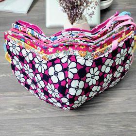 Combo 10 khẩu trang nữ in hình hoa mai chất liệu vải mềm dày 3 lớp dễ thương giá sỉ