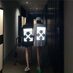 Áo thun phản quang in kí hiệu chất cotton 4 chiều dày mịn trẻ trung năng động giá sỉ