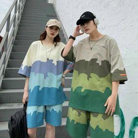 Đồ bộ mặc nhà dạo phố chất thun lạnh in 3D loang đẹp giá sỉ