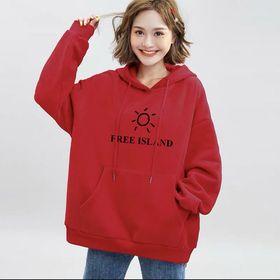 Áo Khoác Nỉ Hoodie In Free Island HDI03 Unisex Freesize Phong Cách Hàn Quốc dưới 75kg giá sỉ