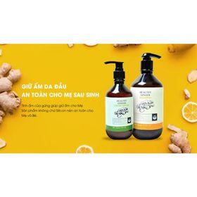 Cặp dầu gội xả thảo dược gừng tươi hỗ trợ giảm rụng tóc Cỏ cây hoa lá (Gội 500ml/Xả 300ml) giá sỉ