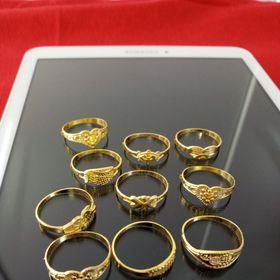 Nhẫn đeo tay xinh màu vàng đủ mẫu giá sỉ
