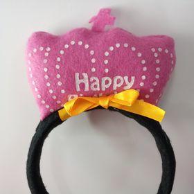 Cài tóc happy birthday màu hồng giá sỉ