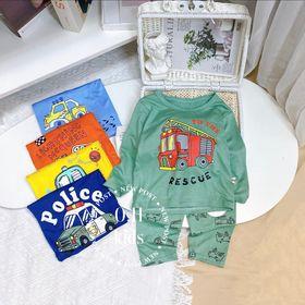 Bộ Thun lanh dài tay - bộ quần áo trẻ em - thun lạnh minky mom giá sỉ