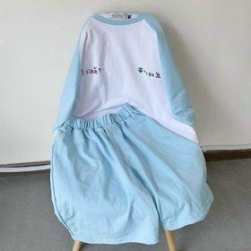 Đồ bộ mặc in chữ hàn chất thun cotton thoáng mát giá sỉ