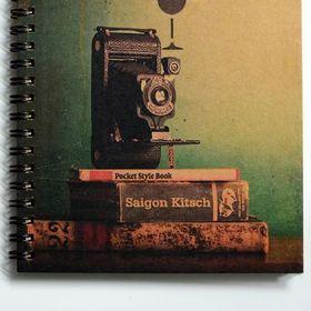 Sổ tay in giấy kraft vintage - camera vintage giá sỉ