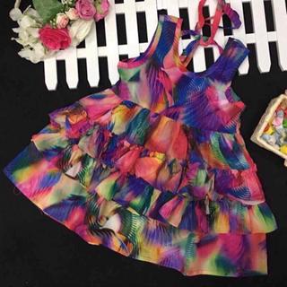 Đầm voan hoa lụa ngày hè cho bé giá sỉ