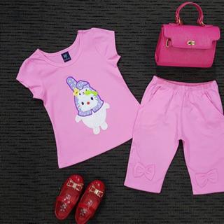 Hàng có sẵn bộ thỏ bé gái quần lững chất cotton 4c bao đẹp 18 ms00070 giá sỉ