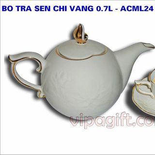 Bộ trà gốm sứ minh long giá sỉ