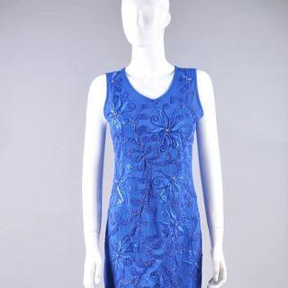 Đầm nữ kết cườm hoa giá sỉ