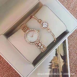 Đồng hồ nử tặng kèm vòng đeo tay sang chảnh giá sỉ