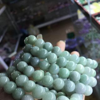 Vòng tay ngọc cẩm thạch hạt tròn - 158 giá sỉ