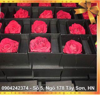 hộp quà tặng hoa hồng son môi giá sỉ