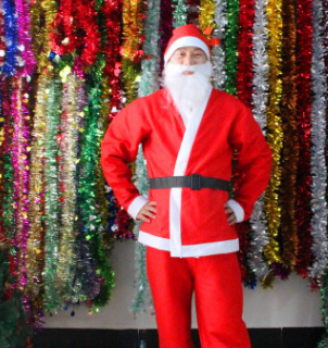 Bộ quần áo ông già Noel set 5 món giá sỉ