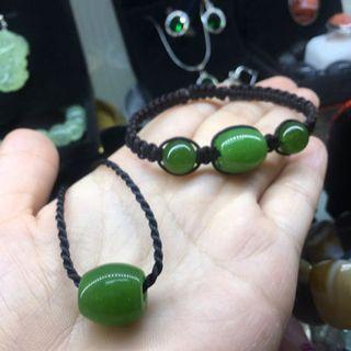 Bộ vòng tay và dây chuyền lu thống xanh bích - 212 giá sỉ