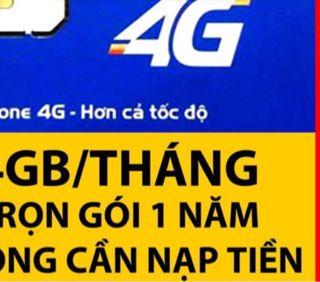 Sim F500 Mobifone 60Gb giá sỉ