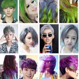 Sáp nhuộm tóc nhiều màu gội là sạch giá sỉ