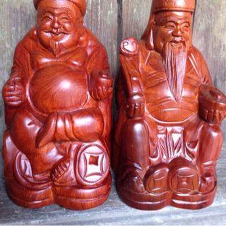 Thần tài - Thổ địa gỗ hương giá sỉ