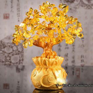 Cây Tài Lộc Đá Thạch Anh Vàng 185cm giá sỉ