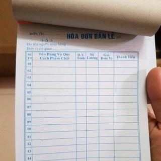 Sổ hóa đơn giá sỉ