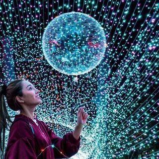 Bóng bay phát sáng có đèn nháy Galaxy led giá sỉ
