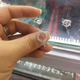 Combo 3 nhẫn bạc đính hạt tròn - MSP 654 giá sỉ