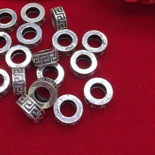 Combo 5 charm bạc bánh xe hoá văn - MSP 666 giá sỉ