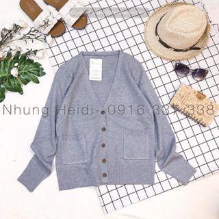 Áo khoác cardigan len nút gỗ giá sỉ