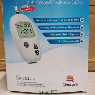 Bộ máy đo đường huyết Safe Accu Sinocare giá sỉ