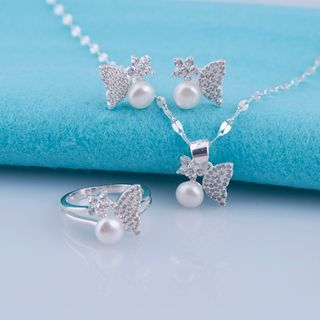 Opal Bộ trang sức ngọc trai tự nhiên và bạc giá sỉ
