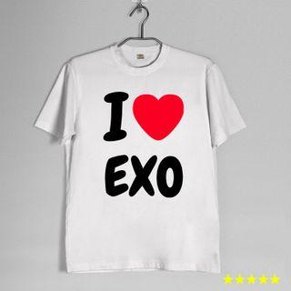 Áo thun teen nữ in logo thần tượng KPOP EXO SNSD BTS giá sỉ