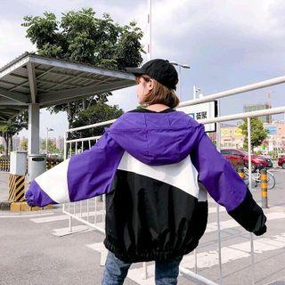 Áo khoác dù nữ phối màu giá sỉ
