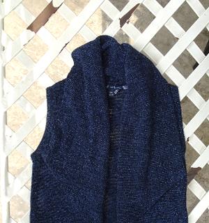 Áo khoác bé gái ánh kim màu xanh đậm P-2621 giá sỉ