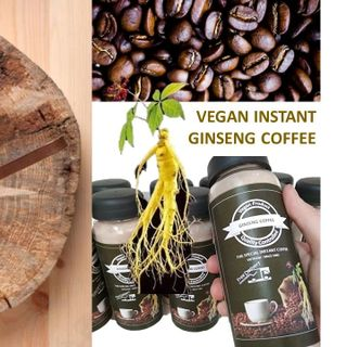 Cà phê sâm hòa tan thuần chay Vegan Instant Ginseng Coffee - cafe dược liệu tăng cường trí lực giá sỉ