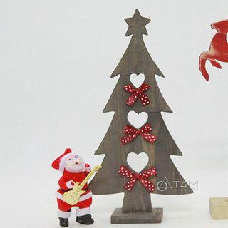 Combo 3 món đồ trang trí Noel Vintage bằng gỗ để bàn XMAS-06 giá sỉ