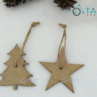 Phụ kiện trang trí cây thông Noel bằng gỗ số 25 giá sỉ