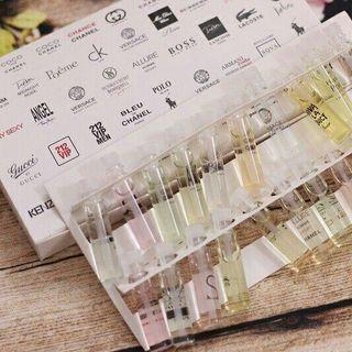 Bộ test nước hoa 20 ống giá sỉ