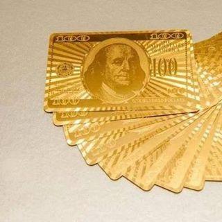 BỘ BÀI 100 USD MẠ VÀNG giá sỉ