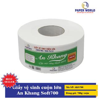 Giấy vệ sinh cuộn lớn 700g/ cuộn - Giấy vệ sinh An Khang 700g/ cuộn giá sỉ