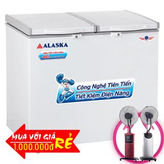 TỦ ĐÔNG MÁT ALASKA 550 LÍT BCD-5568N NHÔM R600A giá sỉ