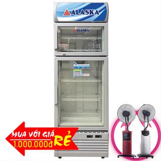 TỦ ĐÔNG MÁT ĐỨNG 2 CỬA ALASKA 500 LÍT LC-833CF ĐỒNG R404A giá sỉ