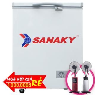 TỦ ĐÔNG MINI SANAKY 100 LÍT VH-1599HY ĐỒNG R600A giá sỉ