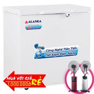 TỦ ĐÔNG ALASKA 200 LÍT BD-200 NHÔM R600A giá sỉ