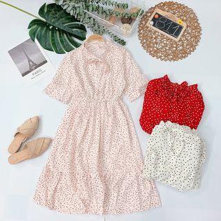 Đầm hoa cột nơ Mẫu dễ mặc dễ bán nè giá sỉ