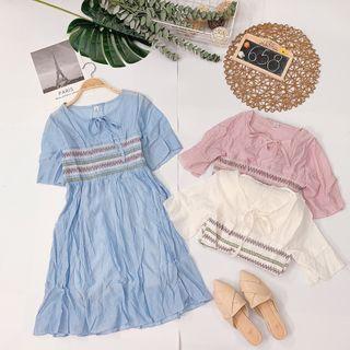Đầm babydoll viền thổ cẩm giá sỉ