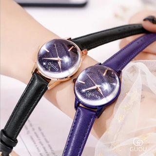 Đồng hồ nữ GUOU 66614 mặt kính lồi giá sỉ