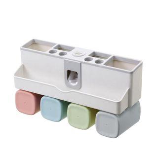 Bộ dụng cụ nhả kem đánh răng kèm 4 cốc làm từ lúa mạch giá sỉ