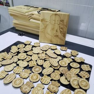 móc khóa gỗ khắc hình giá sỉ