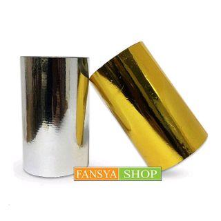 Bộ sản phẩm Nhũ ép kim vi tính vàng bạc khổ 10 cm dài 120m ép trên mực laze giá sỉ