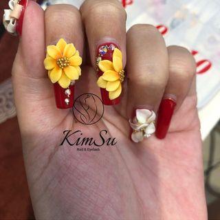 Hoa Hướng Dương Bột Nails giá sỉ